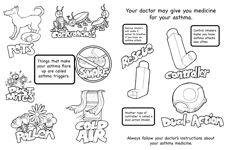 free coloring pages of asthma